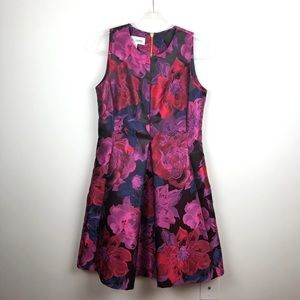 Sara Campbell Floral Cocktail Dress Bright 10